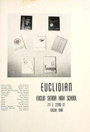 Page 5, 1956 Edition, Euclid High School - Euclidian Yearbook (Euclid, OH) online yearbook collection