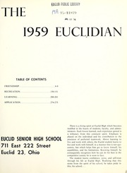 Page 5, 1959 Edition, Euclid High School - Euclidian Yearbook (Euclid, OH) online yearbook collection