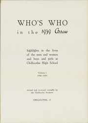 Page 5, 1939 Edition, Chillicothe High School - Arrow Yearbook (Chillicothe, OH) online yearbook collection