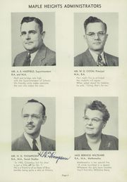 Page 9, 1949 Edition, Maple Heights High School - Maple Leaf Yearbook (Maple Heights, OH) online yearbook collection
