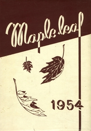 1954 Edition, Maple Heights High School - Maple Leaf Yearbook (Maple Heights, OH)