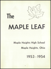 Page 7, 1954 Edition, Maple Heights High School - Maple Leaf Yearbook (Maple Heights, OH) online yearbook collection