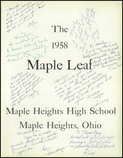 Page 5, 1958 Edition, Maple Heights High School - Maple Leaf Yearbook (Maple Heights, OH) online yearbook collection