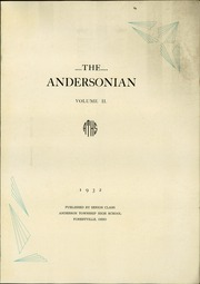 Page 5, 1932 Edition, Anderson High School - Andersonian Yearbook (Cincinnati, OH) online yearbook collection
