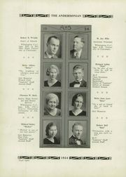 Page 12, 1934 Edition, Anderson High School - Andersonian Yearbook (Cincinnati, OH) online yearbook collection
