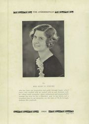 Page 7, 1934 Edition, Anderson High School - Andersonian Yearbook (Cincinnati, OH) online yearbook collection
