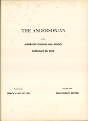 Page 5, 1955 Edition, Anderson High School - Andersonian Yearbook (Cincinnati, OH) online yearbook collection