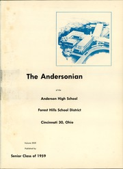 Page 5, 1959 Edition, Anderson High School - Andersonian Yearbook (Cincinnati, OH) online yearbook collection