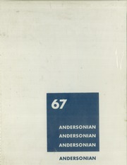 1967 Edition, Anderson High School - Andersonian Yearbook (Cincinnati, OH)