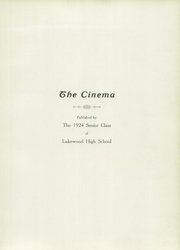 Page 7, 1924 Edition, Lakewood High School - Cinema Yearbook (Lakewood, OH) online yearbook collection