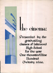Page 7, 1929 Edition, Lakewood High School - Cinema Yearbook (Lakewood, OH) online yearbook collection