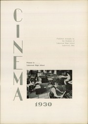 Page 7, 1930 Edition, Lakewood High School - Cinema Yearbook (Lakewood, OH) online yearbook collection