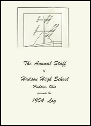 Page 5, 1954 Edition, Hudson High School - Log Yearbook (Hudson, OH) online yearbook collection