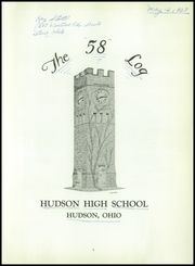 Page 5, 1958 Edition, Hudson High School - Log Yearbook (Hudson, OH) online yearbook collection