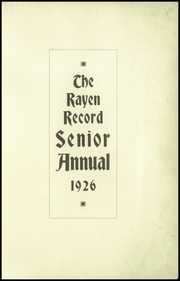Page 5, 1926 Edition, Rayen School - Rayen Yearbook (Youngstown, OH) online yearbook collection