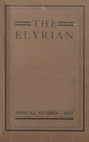 1917 Edition, Elyria Public High School - Elyrian Yearbook (Elyria, OH)