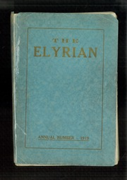 1919 Edition, Elyria Public High School - Elyrian Yearbook (Elyria, OH)