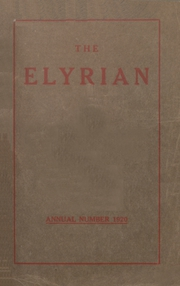 1920 Edition, Elyria Public High School - Elyrian Yearbook (Elyria, OH)