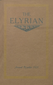 1921 Edition, Elyria Public High School - Elyrian Yearbook (Elyria, OH)