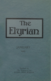 1923 Edition, Elyria Public High School - Elyrian Yearbook (Elyria, OH)