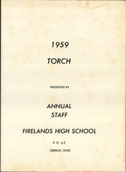 Page 5, 1959 Edition, Firelands Senior High School - Torch Yearbook (Oberlin, OH) online yearbook collection