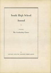 Page 5, 1937 Edition, South High School - Warrior Yearbook (Youngstown, OH) online yearbook collection