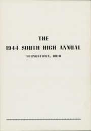 Page 5, 1944 Edition, South High School - Warrior Yearbook (Youngstown, OH) online yearbook collection