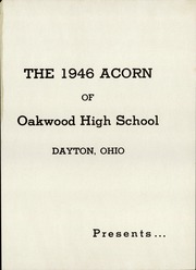 Page 5, 1946 Edition, Oakwood High School - Acorn Yearbook (Dayton, OH) online yearbook collection