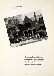 Page 8, 1947 Edition, Oakwood High School - Acorn Yearbook (Dayton, OH) online yearbook collection
