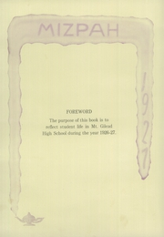 Page 8, 1927 Edition, Mount Gilead High School - Mizpah Yearbook (Mount Gilead, OH) online yearbook collection