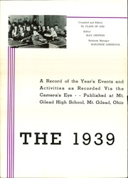 Page 6, 1939 Edition, Mount Gilead High School - Mizpah Yearbook (Mount Gilead, OH) online yearbook collection