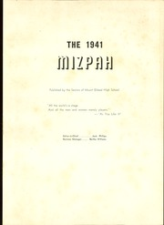 Page 5, 1941 Edition, Mount Gilead High School - Mizpah Yearbook (Mount Gilead, OH) online yearbook collection