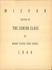 Page 3, 1944 Edition, Mount Gilead High School - Mizpah Yearbook (Mount Gilead, OH) online yearbook collection