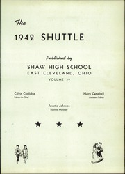 Page 5, 1942 Edition, Shaw High School - Shuttle Yearbook (East Cleveland, OH) online yearbook collection
