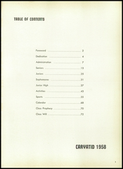 Page 5, 1958 Edition, Carey High School - Caryatid Yearbook (Carey, OH) online yearbook collection