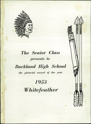 Page 3, 1953 Edition, Buckland High School - Whitefeather Yearbook (Wapakoneta, OH) online yearbook collection