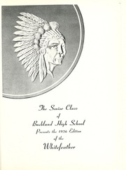 Page 5, 1956 Edition, Buckland High School - Whitefeather Yearbook (Wapakoneta, OH) online yearbook collection