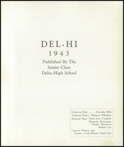 Page 5, 1943 Edition, Pike Delta York High School - Del Hi Yearbook (Delta, OH) online yearbook collection