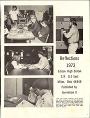 Page 7, 1973 Edition, Edison High School - Reflections Yearbook (Milan, OH) online yearbook collection