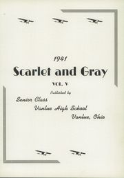 Page 5, 1941 Edition, Vanlue High School - Scarlet and Grey Yearbook (Vanlue, OH) online yearbook collection
