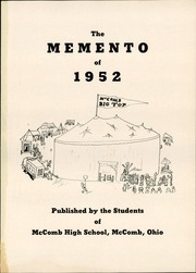 Page 5, 1952 Edition, McComb High School - Momento Yearbook (McComb, OH) online yearbook collection