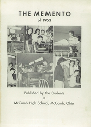 Page 5, 1953 Edition, McComb High School - Momento Yearbook (McComb, OH) online yearbook collection