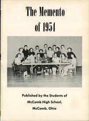 Page 5, 1954 Edition, McComb High School - Momento Yearbook (McComb, OH) online yearbook collection
