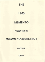Page 7, 1965 Edition, McComb High School - Momento Yearbook (McComb, OH) online yearbook collection