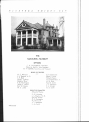 Page 6, 1936 Edition, Columbus Academy - Caravel Yearbook (Gahanna, OH) online yearbook collection