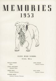 Page 5, 1953 Edition, Elida High School - Reflector Yearbook (Elida, OH) online yearbook collection