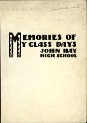 Page 5, 1937 Edition, John Hay High School - Reflections Yearbook (Cleveland, OH) online yearbook collection