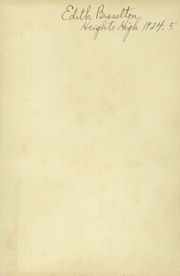 Page 3, 1924 Edition, Cleveland Heights High School - Caldron Yearbook (Cleveland Heights, OH) online yearbook collection