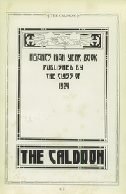 Page 5, 1924 Edition, Cleveland Heights High School - Caldron Yearbook (Cleveland Heights, OH) online yearbook collection