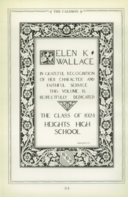 Page 8, 1924 Edition, Cleveland Heights High School - Caldron Yearbook (Cleveland Heights, OH) online yearbook collection